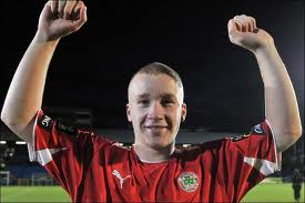 Liam Boyce puts Cliftonville 1-0 up at Solitude