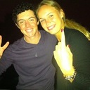 IN HAPPIER TIMES...Rory Mcilroy and his one-time girlfriend Caroline Wozniacki