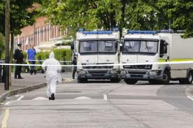 Army technical officers at the scenes of bomb alerts in north Belfast and Newtownabbey