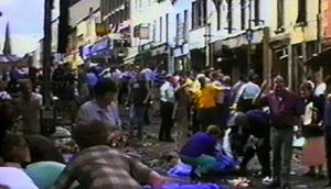 The scene after the August 1998 Omagh bomb atrocity