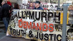 Ballymurphy relatives protest at coroner's office last year