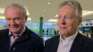 Peter Robinson and Martin McGuinness cheer on Titanic Belfast visitor numbers