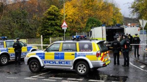 Army technical officers dealing with two possible bomb devices in south Belfast