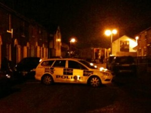 Security operation in south Belfast on Wednesday night in which four men were arrested