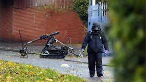Army bomb experts defuse pipe bomb device at Mill Road in Newtownabbey
