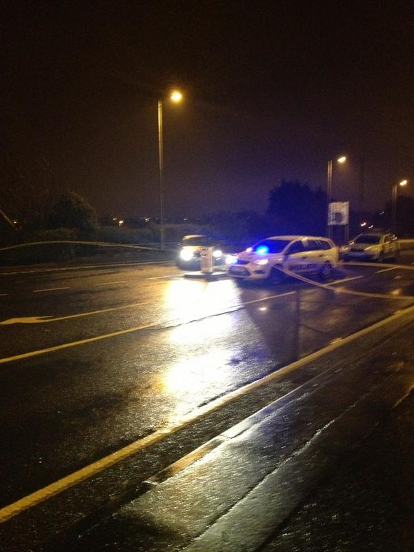 Police seal off scene in Bangor on Wednesday nigth