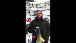 Jim Dowson was arrested on Friday over flag protests