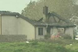 The torched bungalow in Keady which was attacked in November 2006 by four masked men
