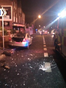 Police car petrol-bombed in east Belfast in an attempt to murder a female PSNI officer