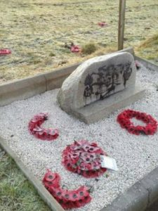 Memorial stone to Scots soldiers vandalised last December
