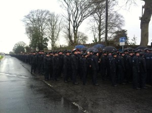 Gardai attend to funeral to murdered colleague Adrian Donohoe