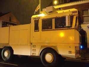 Police move water cannon into east Belfast