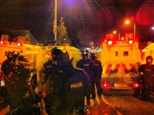 Police come under attack for a sixth night in east Belfast