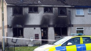 Homes attacked in Antrim estate by gang