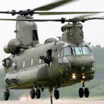 Two RAF Chinook used to fly in aid to farmers in Antrim and Down