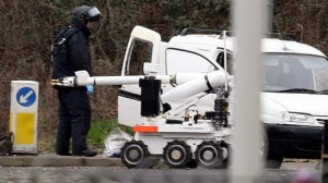 Army bomb disposal officer and robot move in to defuse mortar devices in Derry last month