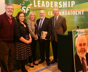 Sinn Fein leaders support Francie Molloy to win Mid Ulster seat