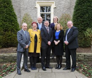 Chairman, Dr Adrian Johnston (Centre) with Board Members (L-R) Billy Gamble; Siobhan Fitzpatrick; Winston Patterson; Rose Mary Farrell; Dorothy Clarke; and David Graham.