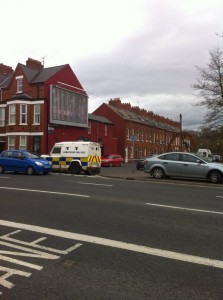Homes evacuated at Artana Street on the Ormeau Road during  security alert