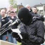Real iRA masked terrorist reads out statement in Derry at Easter last year