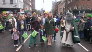 Little Oscar Knox at the St Patrick's Day parade in Belfast on Sunday, March 17