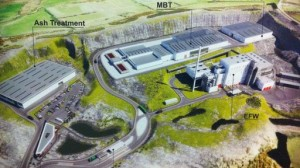 Artists impression of Mallusk waste incinerator