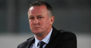 Michael O'Neill watches his team go down 2-0 to Israel at Windsor Park