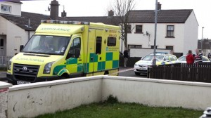 The scene in Ballycastle on Sunday where Kevin O'Neill was murdered in a stabbing
