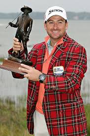 Portrush golfer Graeme McDowell with the RBC Heritage trophy