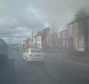 Firefighters tackle blaze in north Belfast on Sunday morning
