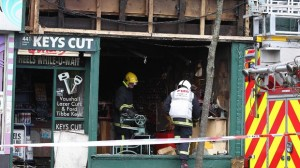 Fire crews investigate the cause of a blaze on the Lisburn Road on Sunday