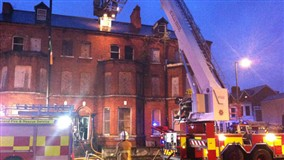Fire crews tackle deliberate blaze on Ormeau Road on Wednesday night
