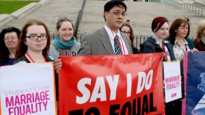 Protestors to gather at Stormont today over same sex marriage debate