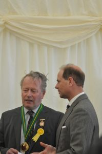 The Earl of Wessex with Robin Morrow of the RUAS at the new Balmoral Show venue