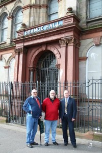 Management committee inspect the damage at Clifton Street Orange Hall