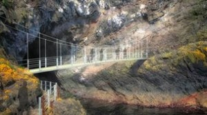 An artist's impression of how Gobbins cliff path will look like after a £6m upgrade