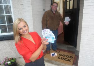 Good luck was with  on Peter Lavery's doorstep when he scooped staggering £10,2m on th lottery. Now Miss NI  Tiffany Brien hopes his good luck rubs off on her