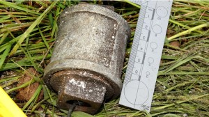 One of the lethal grenades seized by police in Co Tyrone last year