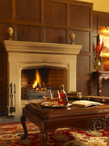 A roaring fire and a brandy night cap at Lough Eske Castle