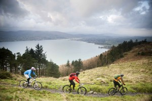 Loving the outdoors by going for a mountain bike ride in Rostrevor, Co Down