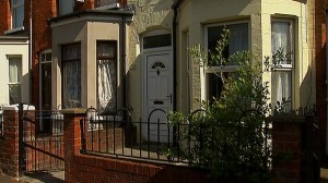 Jing Jing Lin's home in south Belfast which was targeted with a pipe bomb device