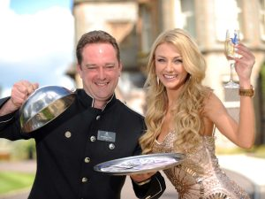 WHO WANTS TO BE A MILLIONAIRE... 12 TIMES OVER:  Newly crowned Miss Northern Ireland Meagan Green will be hoping that she's a winner again this Friday (May 31) when a special Euromillions raffle will give someone from Northern Ireland the chance to win a staggering £1 MILLION EVERY MONTH FOR THE NEXT YEAR.   Meagan sampled the millionaire's lifestyle at the luxurious 5-star Culloden Hotel ahead of the National Lottery's new EuroMillions Millionaire Raffle which guarantees to create a UK millionaire in every EuroMillions draw – but this Friday will be different with one UK ticket-holder banking £1 million tax free every month for a year.  And with a giant cheque delivered into their account each and every month, the lucky player will be able to splash out time and again knowing another million is just a month away.  Culloden concierge Jonathan Cain was on hand to make sure that Meagan's every wish was catered for during her visit.