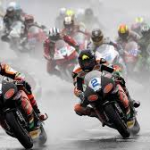Heavy rain during the Supersport race at the NW 200