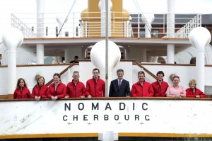 Denis Rooney and SS Nomadic crew getting ready for Saturday