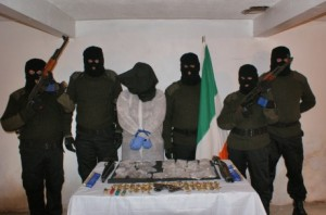 Police claimed James McGettigan was the man on the far right of this RAAD picture
