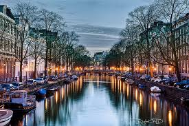 Amsterdam's Singel Canal by night where McFadden died on Saturday