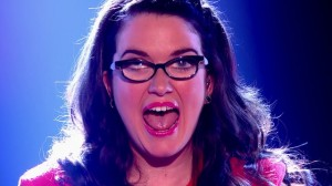 Shocked Andrea Begley seconds after she was crowned winner of The Voice