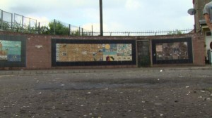 The scene of the petrol bomb attack in Short Strand which left a four-year-old girl with minor injuries last week