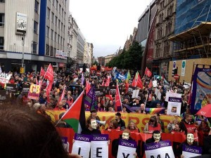 Around 1,500 gather at anti G8 rally at Belfast City Hall on Saturday