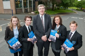 Education Minister John O'Dowd at a recent visit to Newtownbreda High School